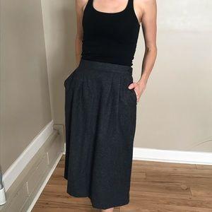 Vintage Gray Pendleton Wool Midi Pencil Skirt